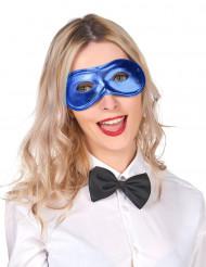 Blå metallisk ögonmask