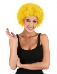 Gul afro- eller clownperuk för vuxna