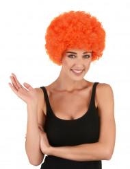 Orange afro/clownperuk standard för vuxna