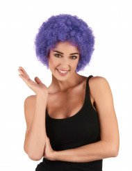 Lila afro/clownperuk standard för vuxna