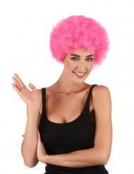Rosa peruk afro/clown standard för vuxna