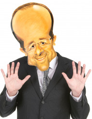 Kartong mask av François Hollande