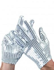 Silver paljett handskar