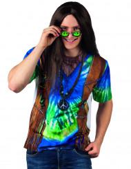 Blå hippie t-skjorta vuxen