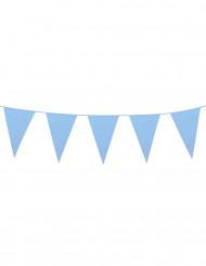 Girlang med jättestora himmelsblåa vimplar 10 m