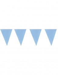Girlang med himmelsblåa vimplar 10m