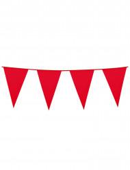Girlang med röda vimplar 10 m
