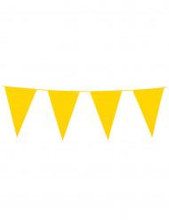 Girlang med gula vimplar 10 m
