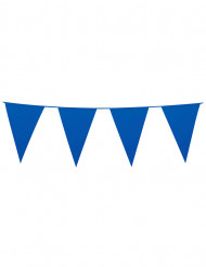 Blå girland med vimplar till festen 10 m