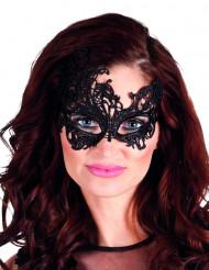 Svart spetsögonmask för vuxna