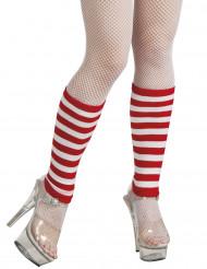 Röd och vita randiga leggings