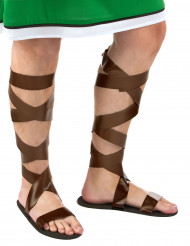 Bruna romerska sandaler