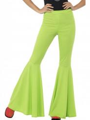 Grön discobyxa damer