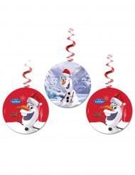3 hängnade dekorationer med Olaf™