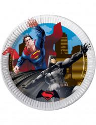 8 små tallrikar från Batman™ vs Superman™ 19,5 cm