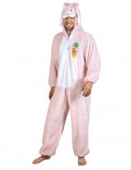 Lyxig rosa kanin - utklädnad vuxen
