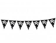 Vimpelgirland för pirater med dödskallar 3,60 m