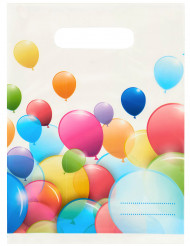 6 prestentpåsar med tryck av ballonger
