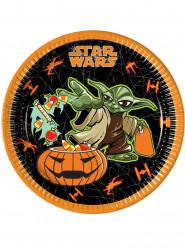 8 Star Wars™ tallrikar i Halloween-tema 23 cm