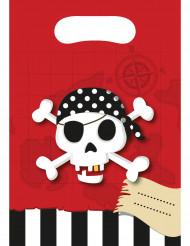 6 påsar i pirattema till kalaset