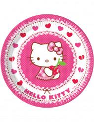 8 kartongtallrikar från Hello Kitty™ 23 cm