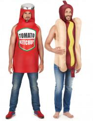 Varmkorv med Ketchup - Pardräkt vuxna