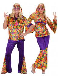 Woodstock Par - Hippiepardräkt vuxna