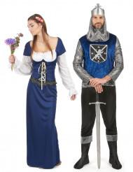 Jungfru och Riddare - Pardräkt vuxna
