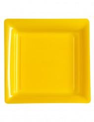 12 fyrkantiga plasttallrikar 23,5 cm