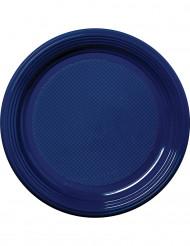 30 marinblåa tallrikar 22cm