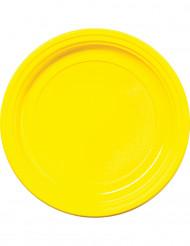 30 gula plasttallrikar 22 cm