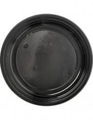 30 svarta plasttallrikar 22 cm