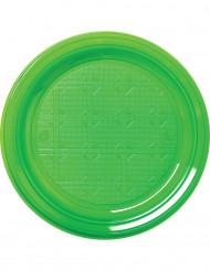 30 gröna plasttallrikar 22cm