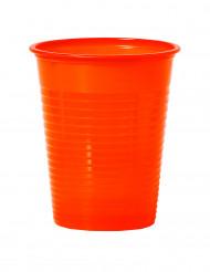 50 mandarinfärgade plastmuggar 20 cl