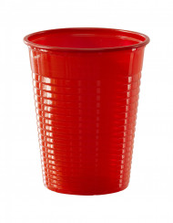 50 muggar i röd plast 20 cl - Kalasdukning