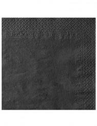 50 svart servetter 38 x 38 cm