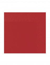 50 röda pappersservetter 38 x 38 cm