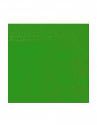 50 julgransgröna servietter 38 x 39 cm