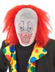 Clown huva med peruk