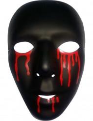 Svart mask med blodiga tårar i herrstorlek