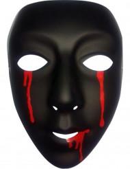 Svart mask med blod tårar i damstorlek