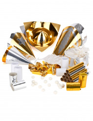 Lyxigt partykit 10 personer guld och silver