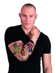Ärm med clown tatueringar