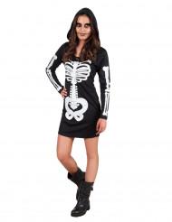 Maskeraddräkt skelett med luva tonåring Halloween