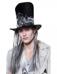 Skelett hatt med hår