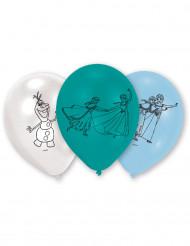 6 blåa latex ballonger Frost™