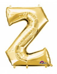 Bokstaven Z - Aluminiumballong i guld 33 cm
