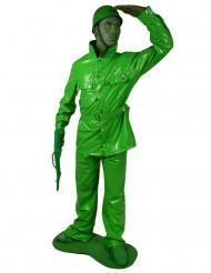 Maskeraddräkt Morphsuits™ grön soldat vuxen