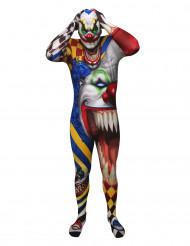 Skrämmande clown Morphsuits™ vuxen Halloween