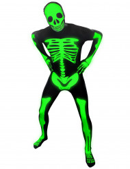 Maskeraddräkt självlysande skelett vuxen Morphsuits™